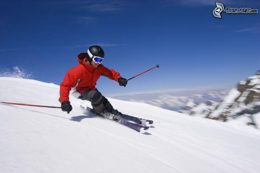 esquí, acelerar