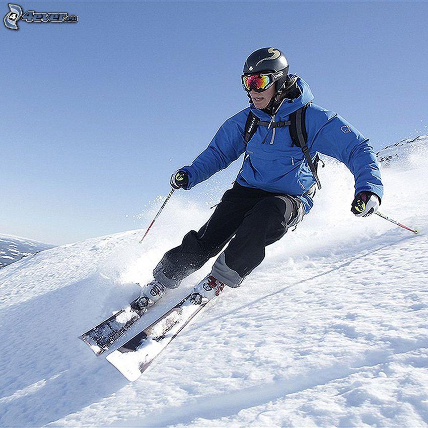 esquí, esquiador, nieve