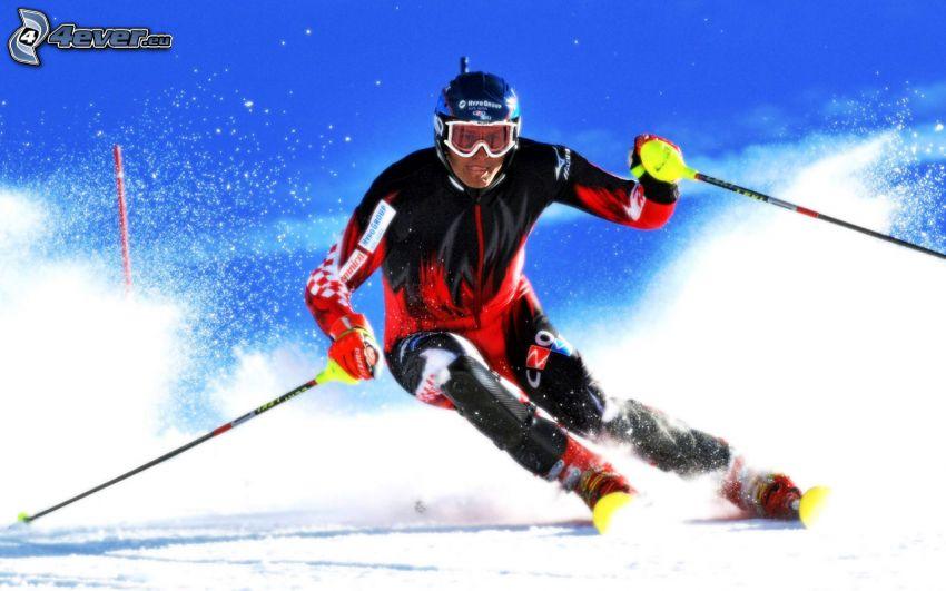 esquí, esquiador