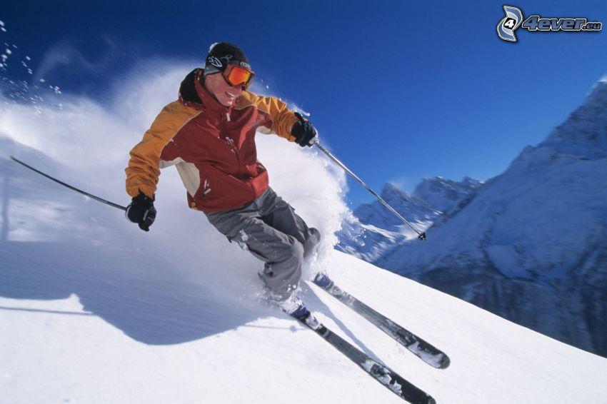 esquí, nieve