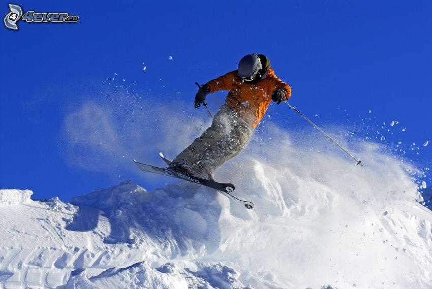 esquí extremo, salto con esquís, nieve