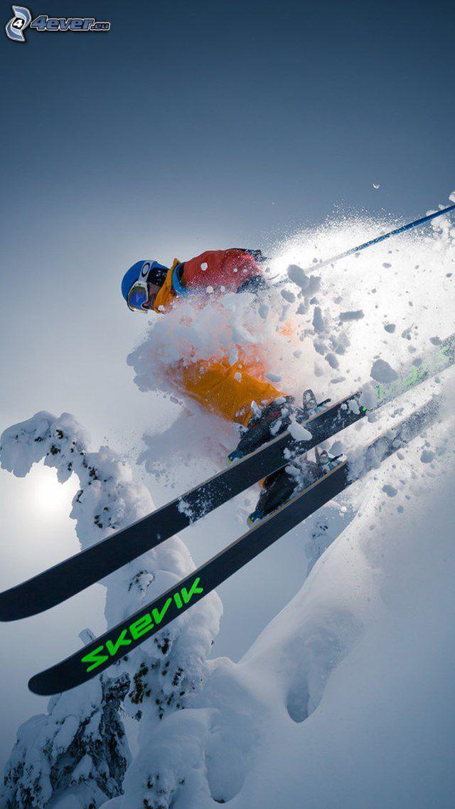 esquí extremo, salto con esquís