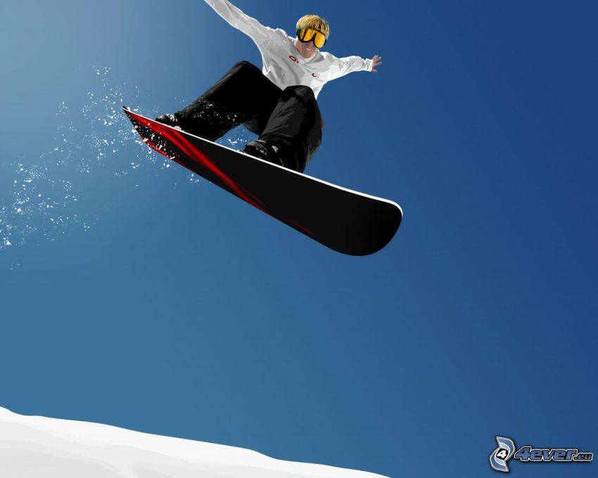 salto en tabla de snowboard