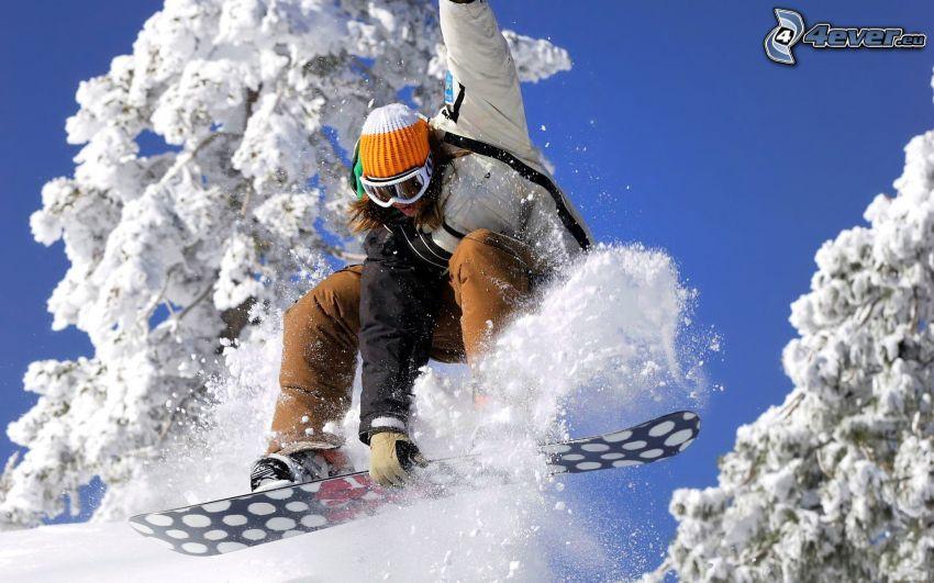 snowboarding, salto