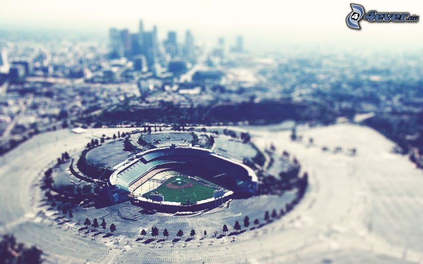 Dodgers Stadium, Estadio de Béisbol, Los Angeles, diorama