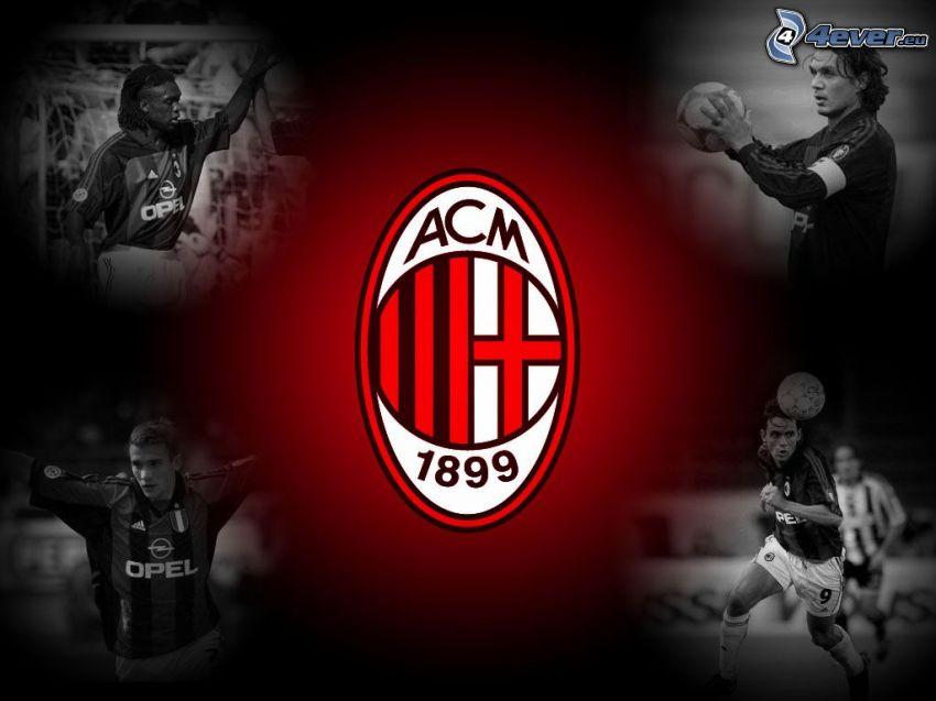 AC Milan, logo, signo, jugador, futbolista