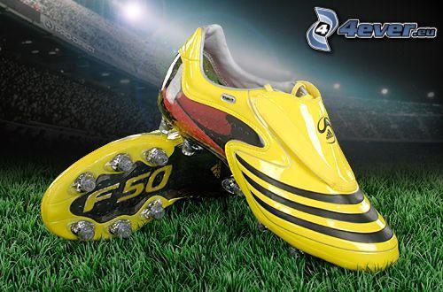 Adidas F50, botas de fútbol, césped