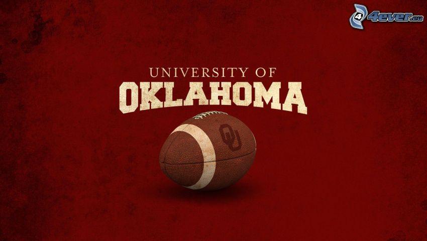 balón de fútbol, fútbol americano, Oklahoma