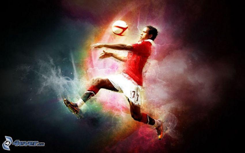 futbolista, balón de fútbol