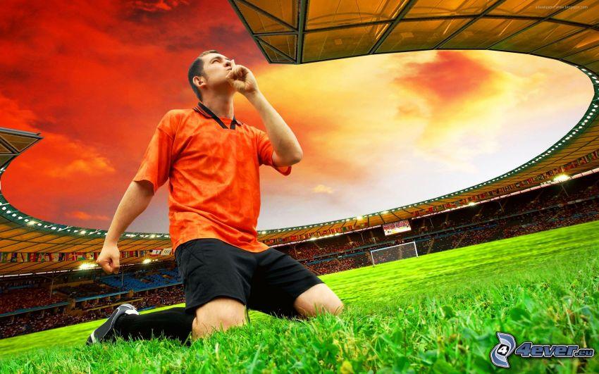 futbolista, estadio de fútbol