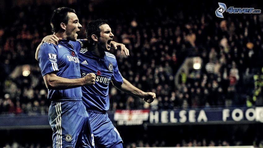 futbolistas, alegría