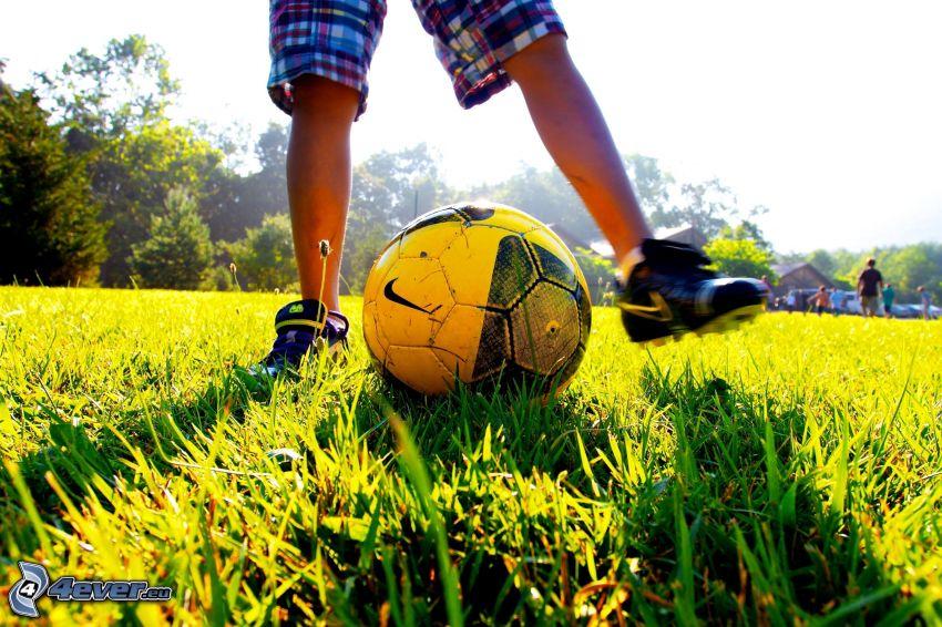 pies, bola, fútbol