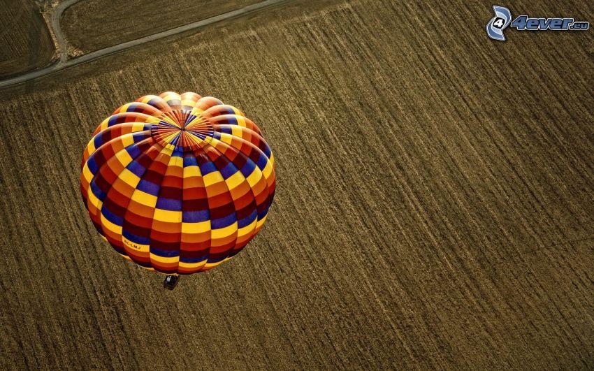 globo de aire caliente, campo