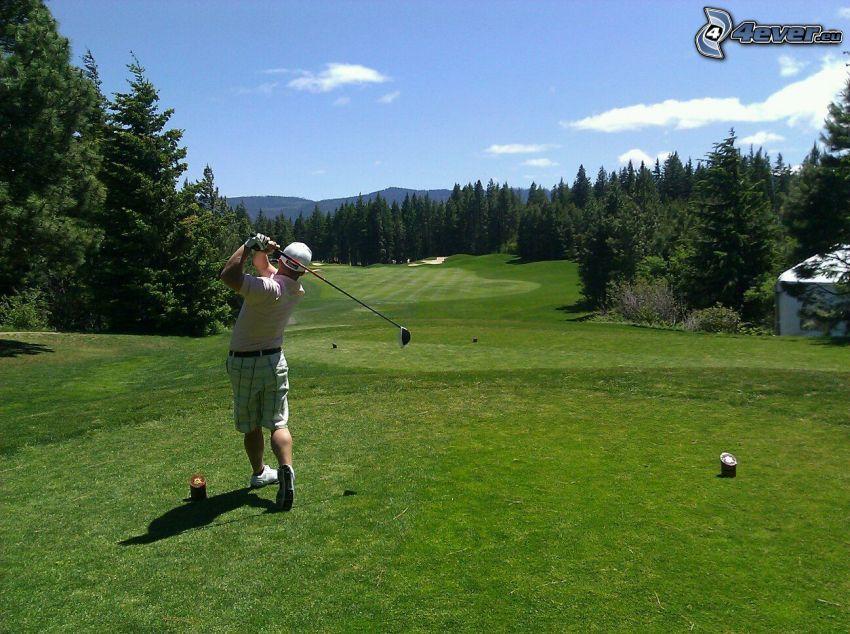 golf, Golfista, campo de golf