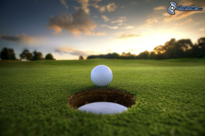 golf, pelota de golf, agujero