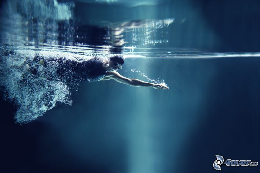 nadar, agua