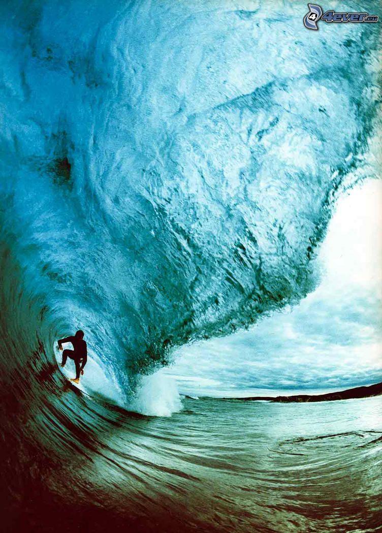 ola, surfista