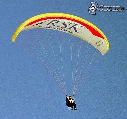 paracaidista, paracaídas