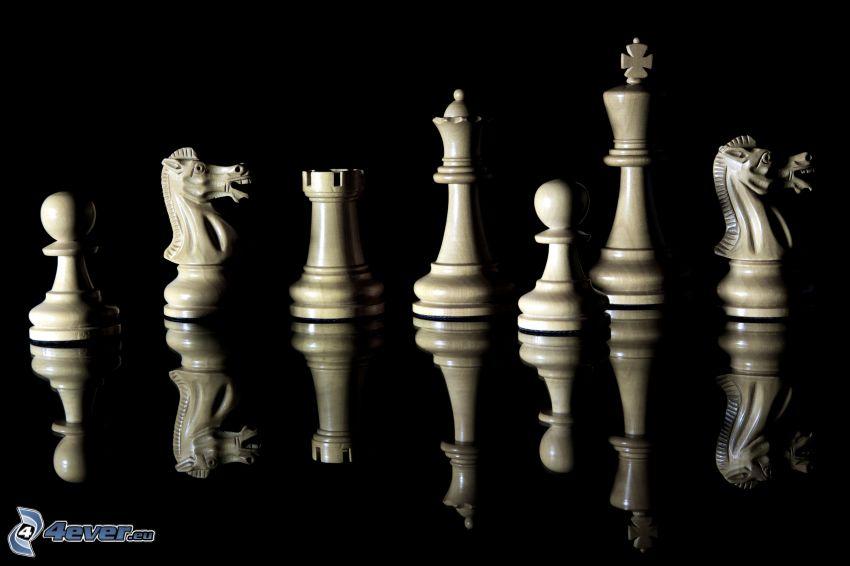 piezas de ajedrez, reflejo