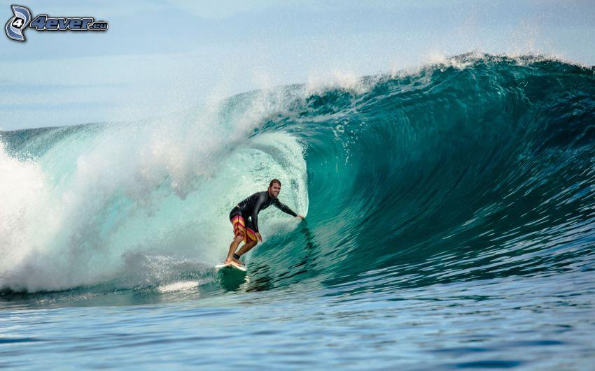 surf, hombre, ola