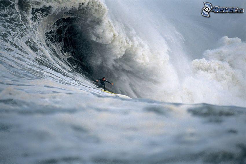 surf, ola, mar