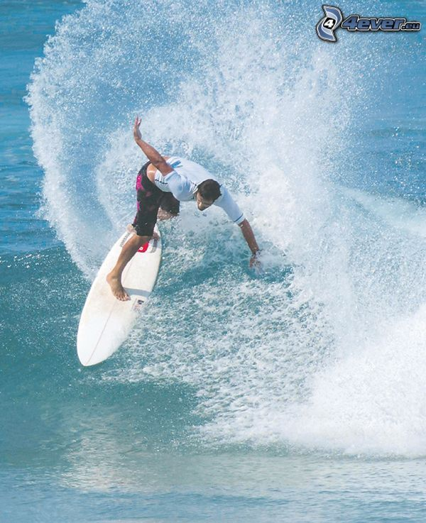surfista, agua, surf, ola