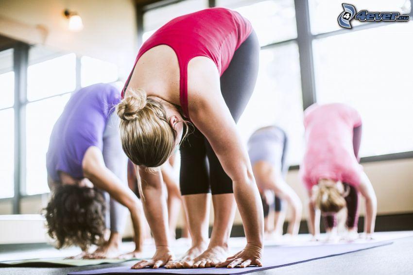 yoga, calentamiento, ejercicio