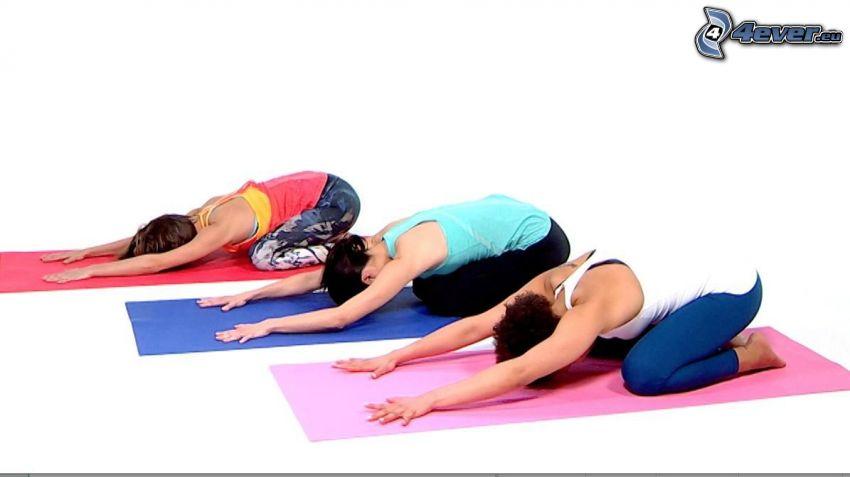 yoga, calentamiento