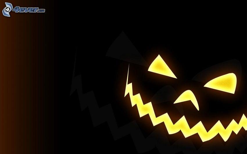 Calabaza de Halloween, dibujos animados