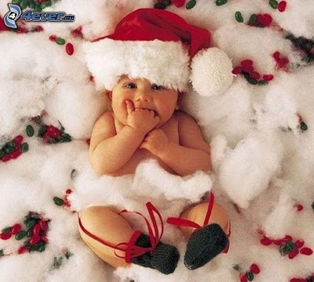 bebé navideño, gorra de San Nikolás
