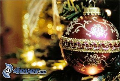 Bola de Navidad, árbol de Navidad