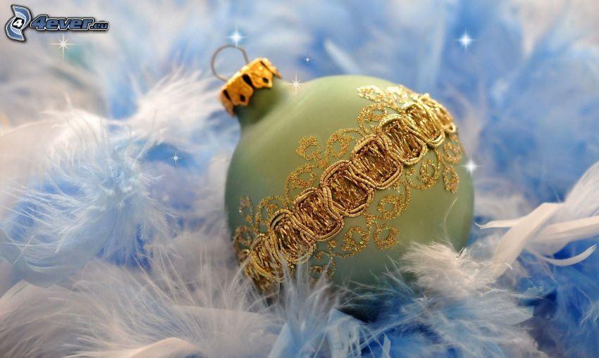 Bola de Navidad, plumas