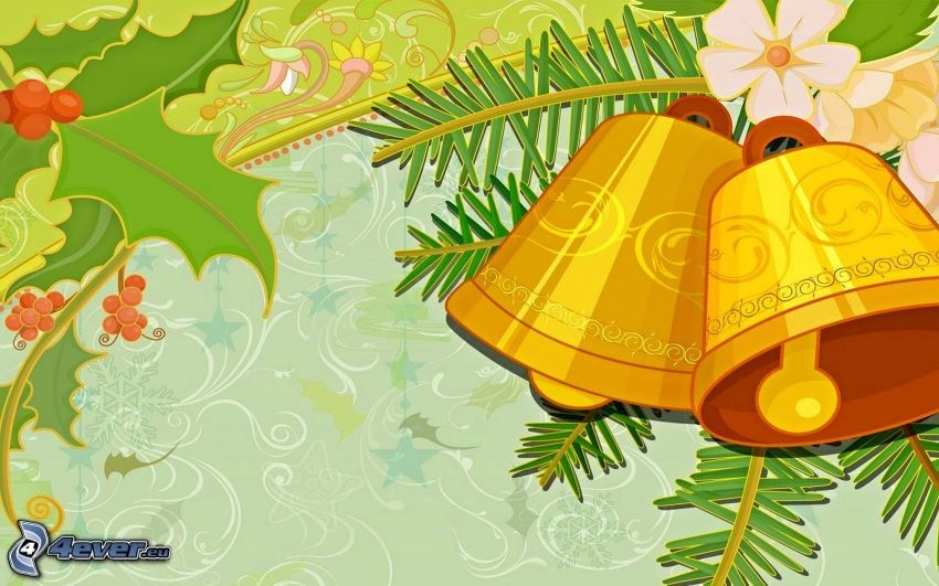 campana de Navidad, dibujos animados