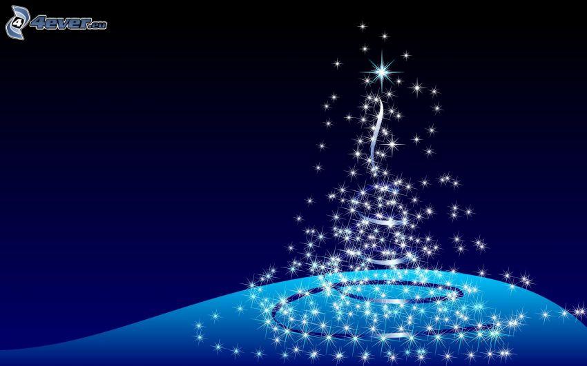 luces, árbol de Navidad