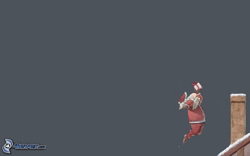 Papá Noel, chimenea