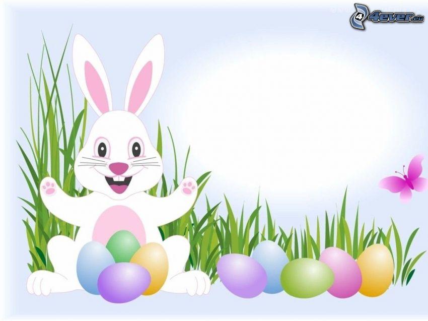 conejito de Pascua, huevos de pascua