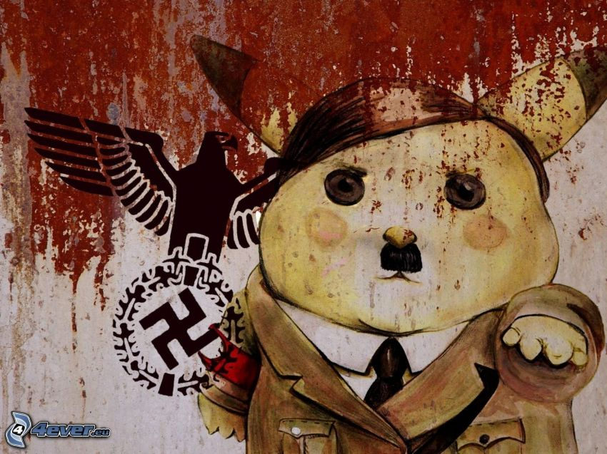 Adolf Hitler, Pikachu, esvástica, águila