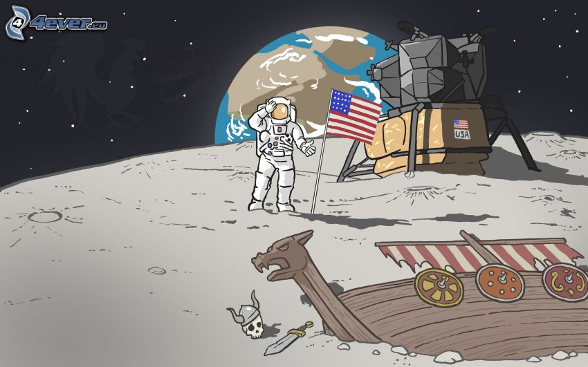 Apollo 11, nave, velero, vikingo