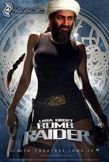 Bomb Raider, Osama bin Laden, Tomb Raider, parodia