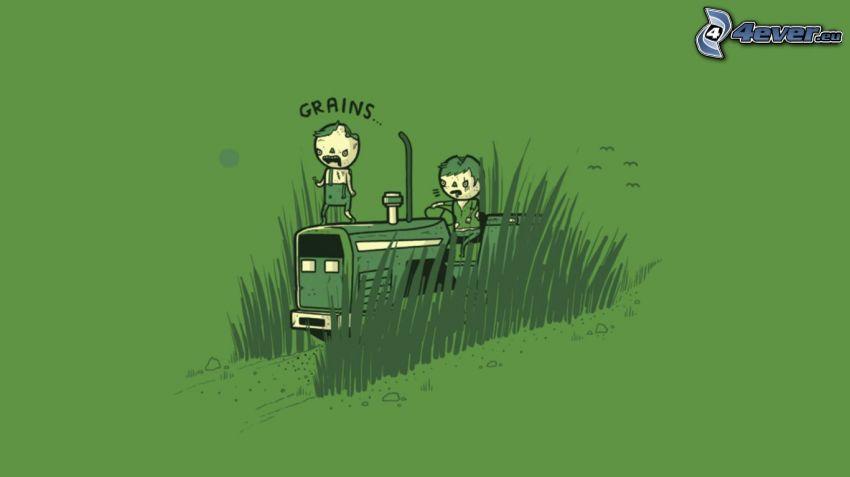 caracteres, hierba
