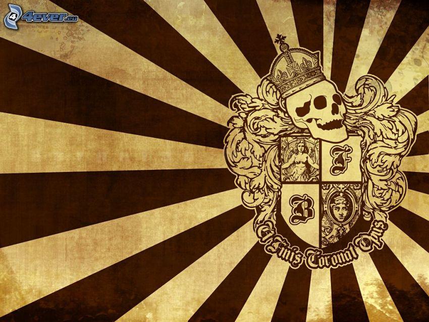 escudo de armas, cráneo