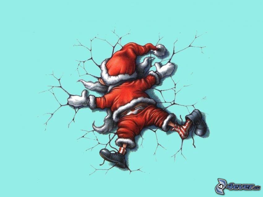 Papá Noel, hielo