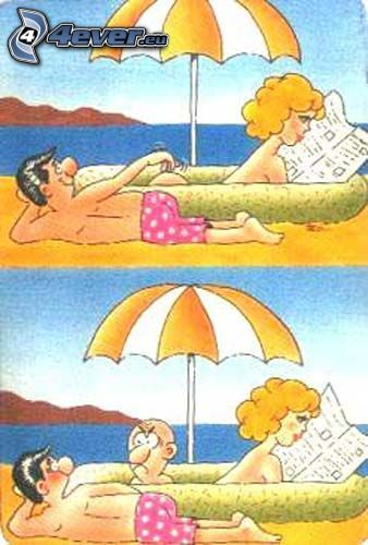 sorpresa desagradable, playa