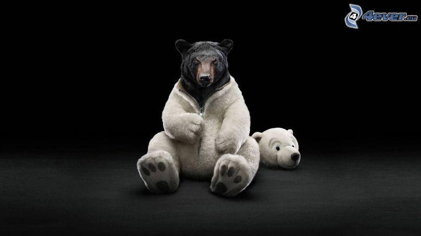 oso polar, traje