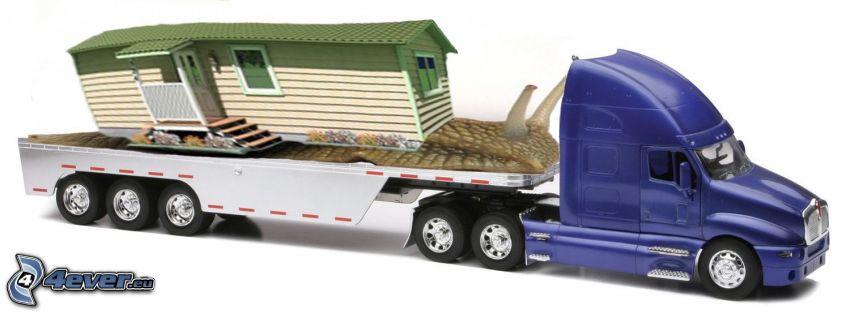 camión, caracol