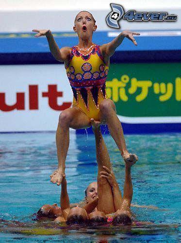 aquabella, foto instatánea, baile, agua