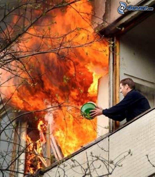 fuego, llama, bombero