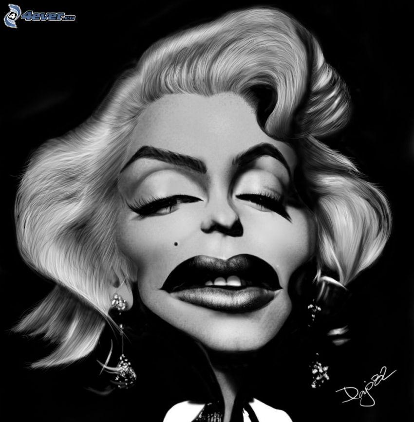 Marilyn Monroe, caricatura