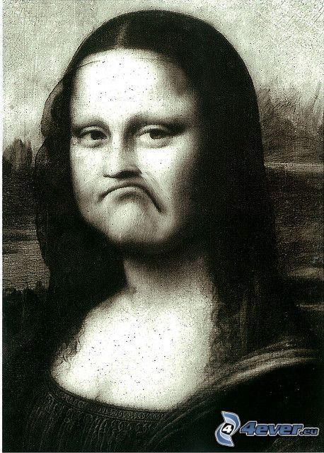 Mona Lisa, parodia, tristeza