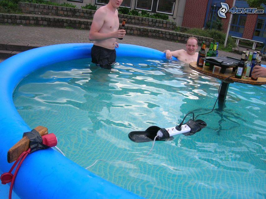 piscina, electricidad, enchufe